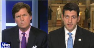 Tucker Carlson interviewing House Speaker Paul Ryan