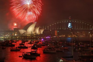 New Year's Eve fireworks in Sydney.